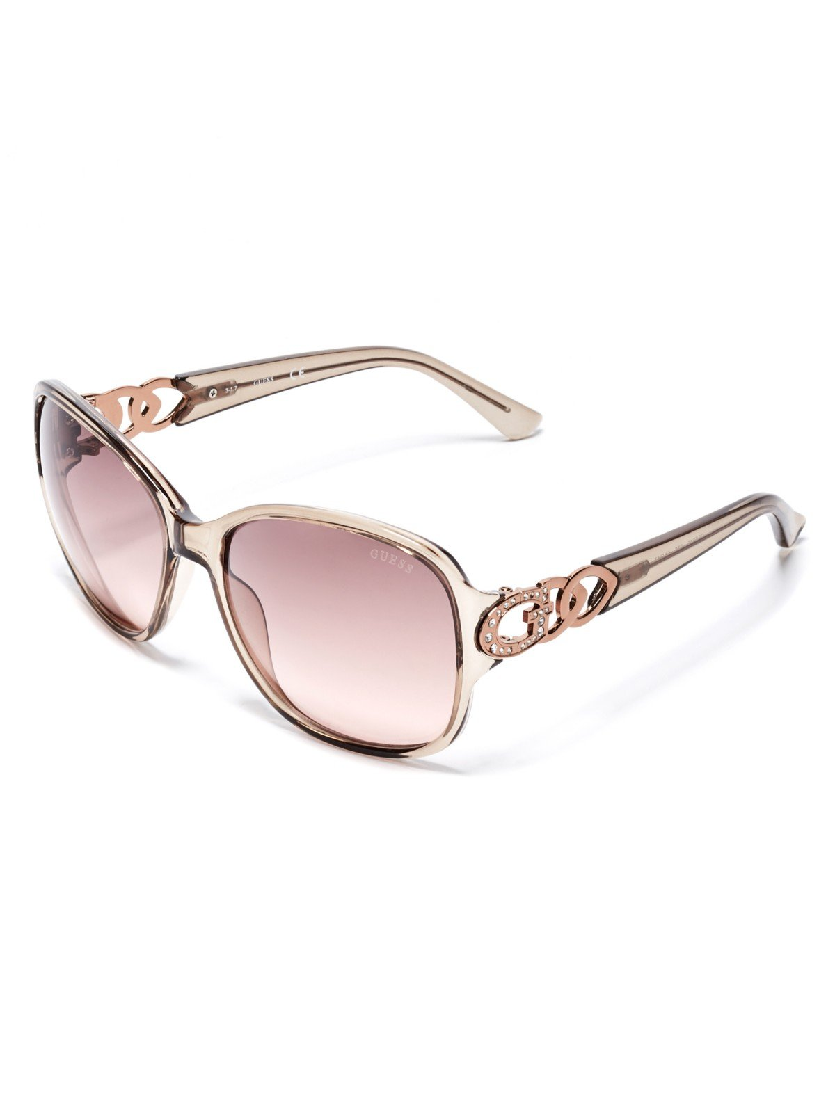 GUESS Factory Women's Oversized Chain-Trim Sunglasses