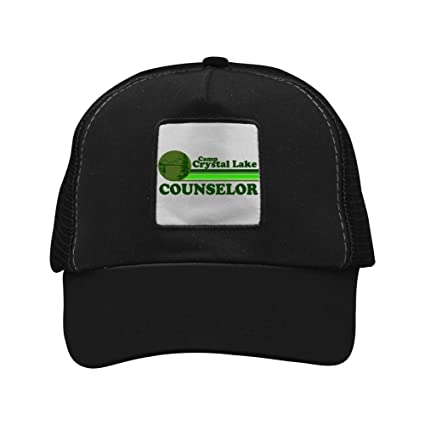 9cda0bbeecd Image Unavailable. Image not available for. Color  Fenghual Camp Crystal  Lake Adjustable Grid Baseball Cap Snapback Washed Dad Hat Trucker ...