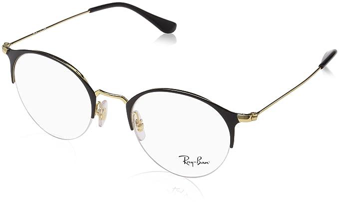 Ray-Ban Unisex-Erwachsene Brillengestell RX3578V, Schwarz (Negro), 48