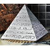 Oilp Retro Fashion Carved Pyramid Ashtray In Clamshell Desigh As Unique Gifts or Home Decorative