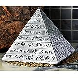 OILP Ashtray Elegant Ashtray Retro Pyramid Ashtray with Lid,Self-Extinguishing Ashtray, Unique Gifts or Home Decorative Art