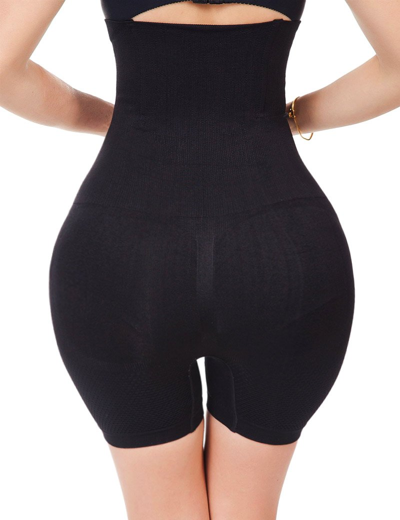 Tummy Control Body Shaper Seamless Thigh Slimming Boyshort Breathable Slip Shapewear for Women,Black,S(Fit For Waist:20inches-24inches) by Lelinta (Image #5)
