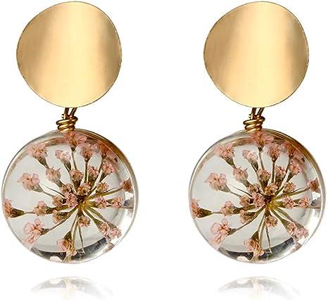 Linda Cristal Stud Pendientes de Oro de Moda para Mujer Joyas Accesorio Niñas Regalo