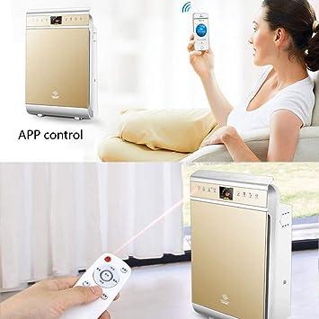 Humidificador de purificación de aire con WIFI purificador de hogar Deformaldehído Haze PM 2.5 humo usado y polvo oficina habitación negativa ion aire limpio purificación cantidad: Amazon.es: Salud y cuidado personal
