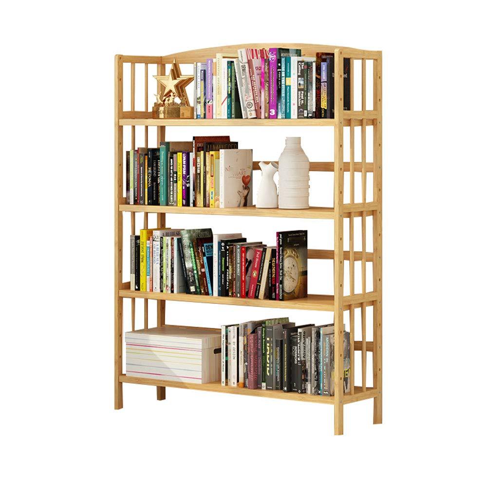 オープンシェルフラック シンプルなソリッドウッドブックシェルフフロアスタンディングブックケースマルチレイヤストレージ4th Floor Shelf (Size : 90cm) B07SRC82K7  90cm