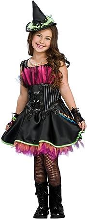 Disfraz de Bruja Rockera con corset para niña, infantil 5-7 años ...