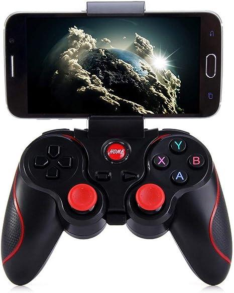 SCZZ Sin Hilos del Juego, Receptor de Bluetooth Bluetooth Wireless Gamepad USB Recargable Mando Joystick para PC Incluido Android Tableta del teléfono TV Box: Amazon.es: Deportes y aire libre