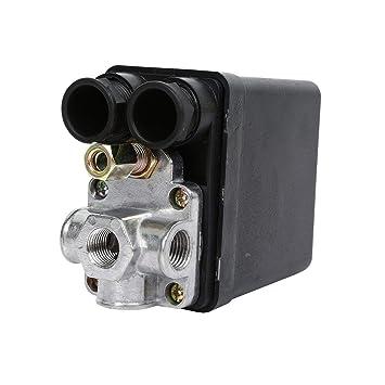 Válvula de Control de Interruptor de presión de compresor de Aire de Servicio Pesado 90 PSI -120 PSI: Amazon.es: Electrónica