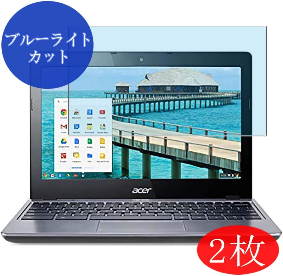 """【2 Pack】 Synvy Anti Blue Light Screen Protector for acer Chromebook C720 11.6"""" Anti Glare Screen Film Protective Protectors [Not Tempered Glass]"""