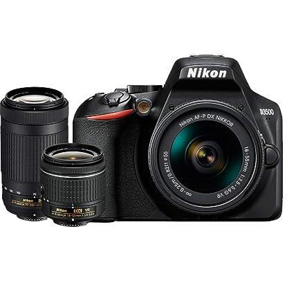 Amazon.com   Nikon D3500 DX-Format DSLR Two Lens Kit with AF-P DX ... 6804367c82d
