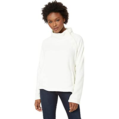 Mod-O-Doc Womens Plush Faux Sherpa Buttoned Funnel Neck Pullover at Women's Clothing store