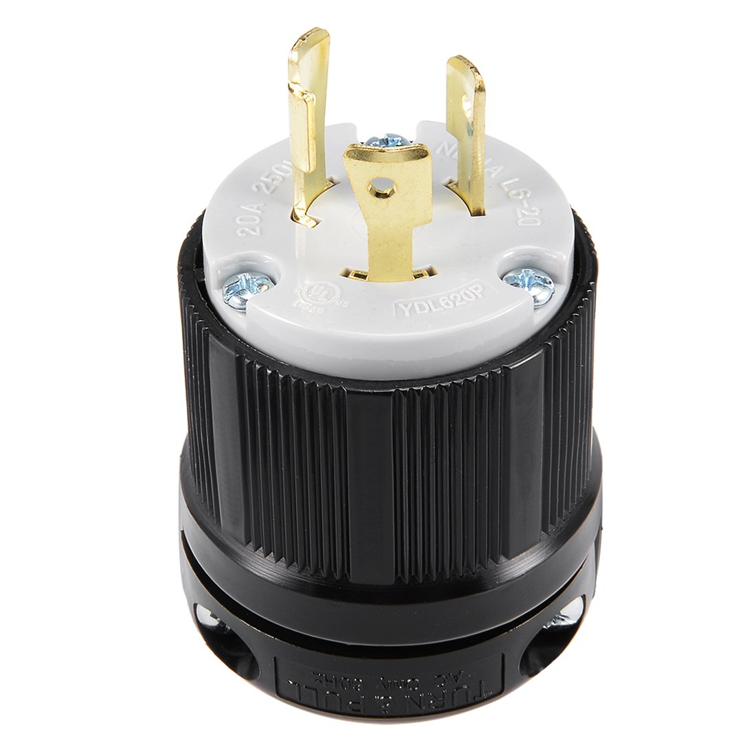 uxcell AC 125V 15A Nema 5-15P Straight 3-Pin Non-locking Plug Connector