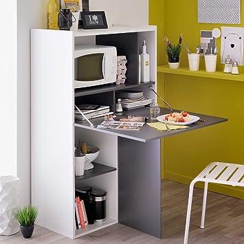 Klapptisch Küche regal mit klapptisch weiß grau pharao24 amazon de küche haushalt