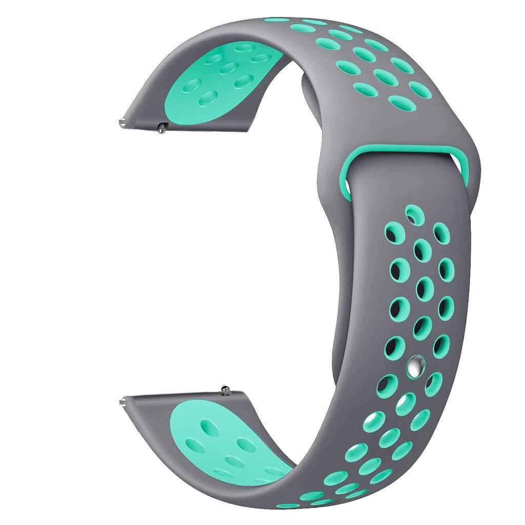 Riou Correa para Reloj,❤️para Samsung Galaxy Watch Active Correa de muñeca Grande de Silicona Pulseras de Repuesto para smartwatches(Tamaño Grande): ...