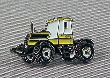 Pin de metal esmaltado, insignia broche Tractor construcción tierra mover – amarillo