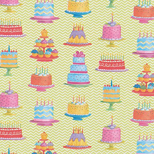 Caspari Sweet Temptations 30 in. x 5 ft. Wrapping Paper Rolls, 3 Rolls Included