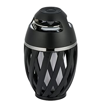 XPY&DGX inalámbrico Bluetooth altavoz con luz de fuego portátil de doble canal música bailando antorcha atmósfera