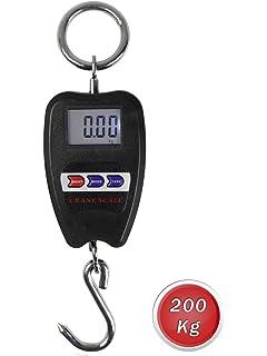 Vetrineinrete® Bilancia digitale 200 kg con gancio da gru in acciaio  industriale portatile peso capacità 436206dd4408