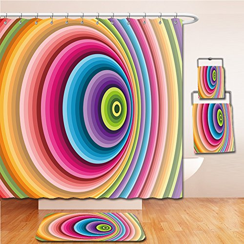 LiczHome Bath Suit: Showercurtain Bathrug Bathtowel Handtowel Abstract background. Vector illustration. Can be used wallpaper, web page background, web banners