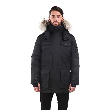 Triple F.A.T. Goose Eldridge Mens Long Parka Jacket: Amazon.ca ...