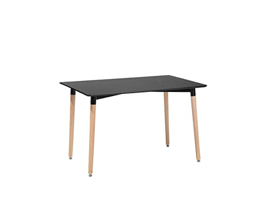 Fly - Mesa de Comedor (120 x 80 cm), Color Negro: Beliani: Amazon ...