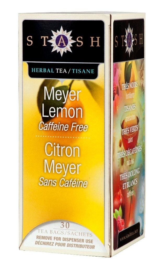 Stash Tea Meyer Lemon Herbal Tea 30 Count Tea Bags in Foil (Pack of 6) (Packaging May Vary) Individual Herbal Tea Bags for Use in Teapots Mugs or Cups, Brew Hot Tea or Iced Tea