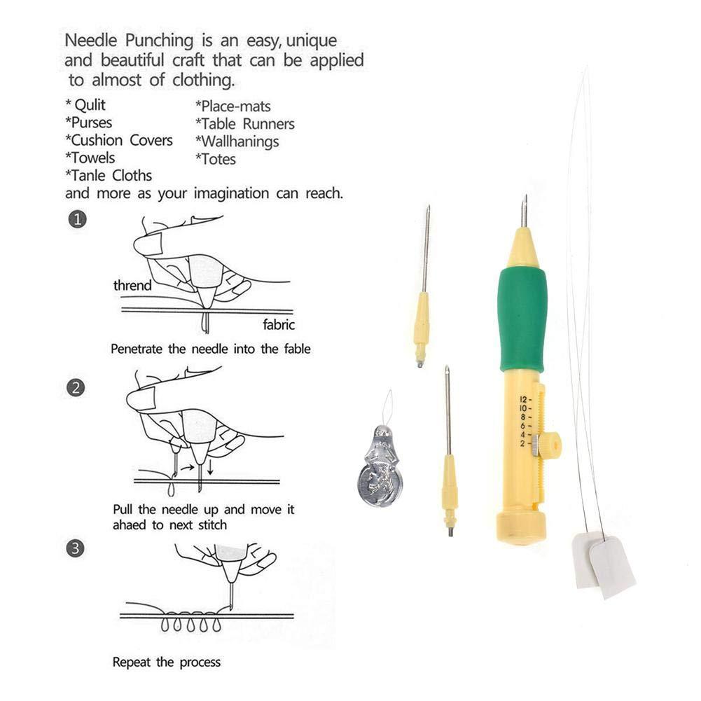 Amazon.com: AOLVO - Aguja de punzón para bolígrafo bordado ...