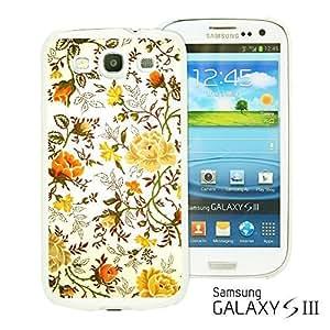 OnlineBestDigital - Flower Pattern Hardback Case for Samsung Galaxy S3 III I9300 - Vintage Floral Print Kimberly Kurzendoerfer