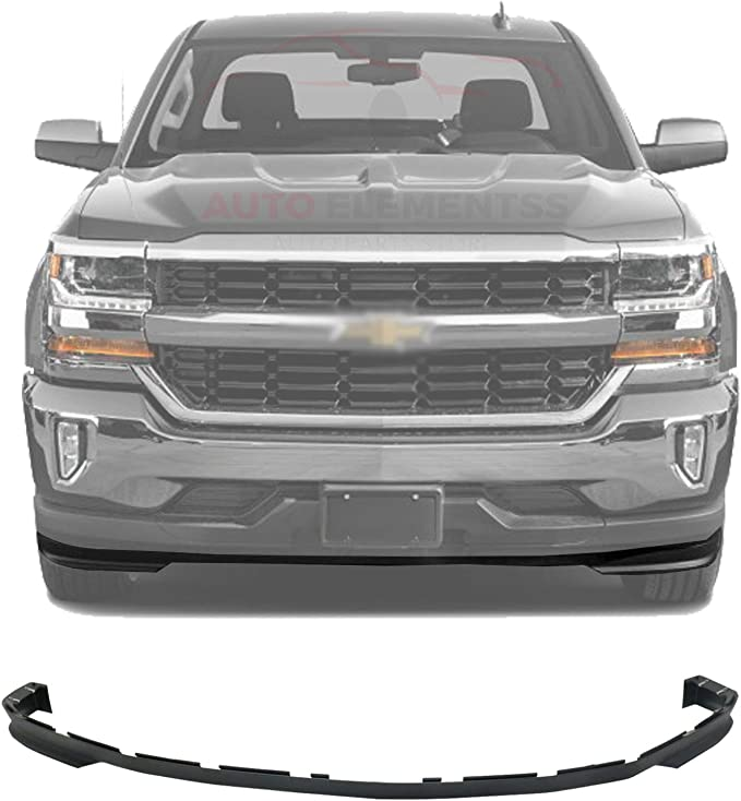 Valance Compatible For 2019 Chevrolet Silverado 1500 LD 2016-2018 Front Lower Bumper Cover Textured CAPA Certified