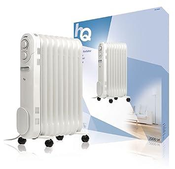HQ -OR09 Interior Color blanco 2000W Radiador - Calefactor (Radiador, 1,6