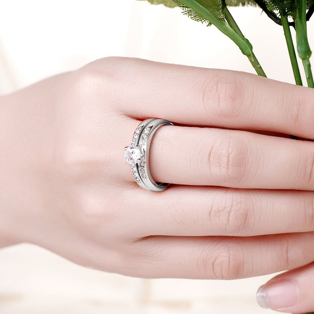 Amazon.com: LWLH Jewelry Womens 18K White Gold Plated Temperament ...
