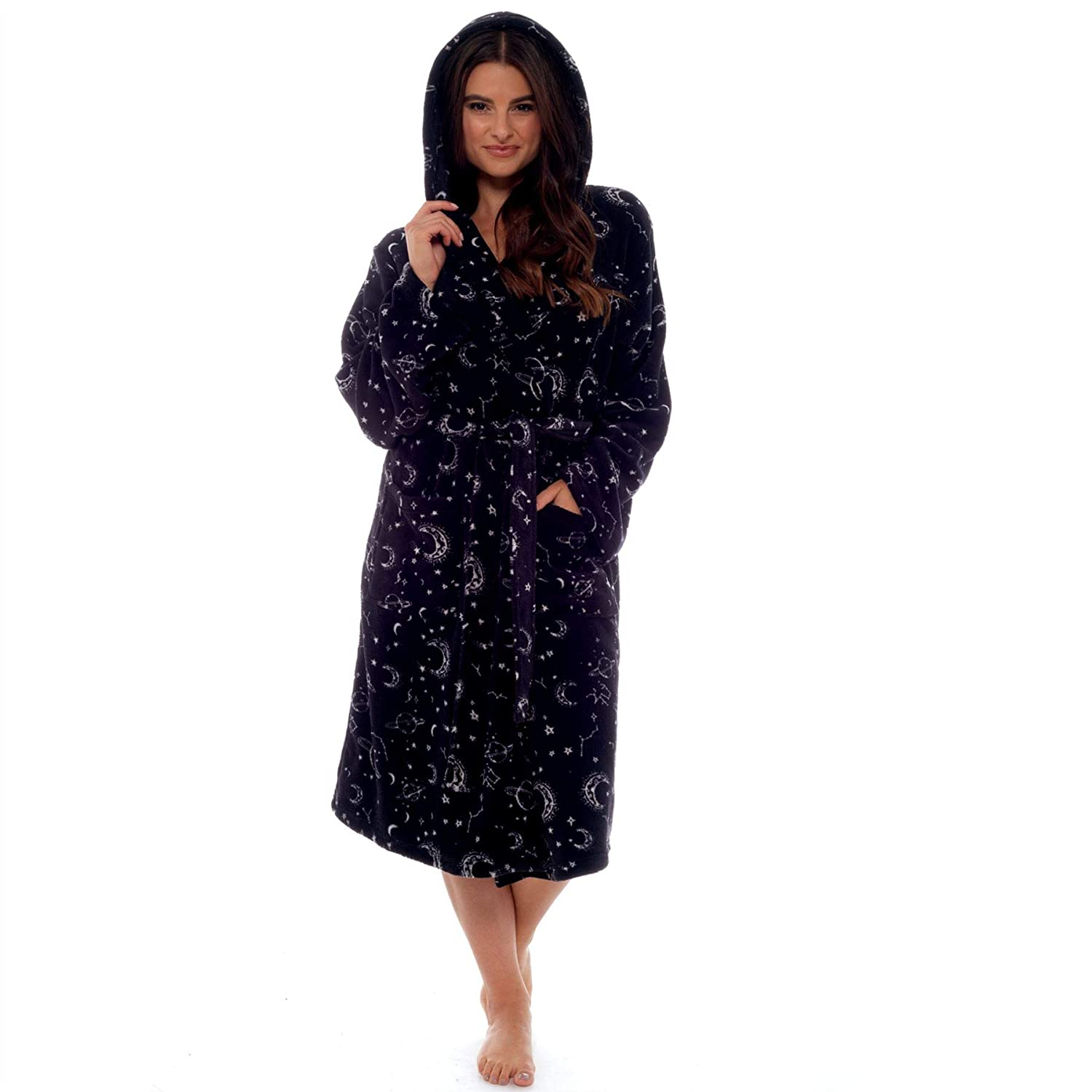5889050ad2 Style It Up Ladies Womens Dressing Gown Bathrobe Soft Warm Cosy Luxury  Hooded Wrap Winter  Amazon.co.uk  Clothing