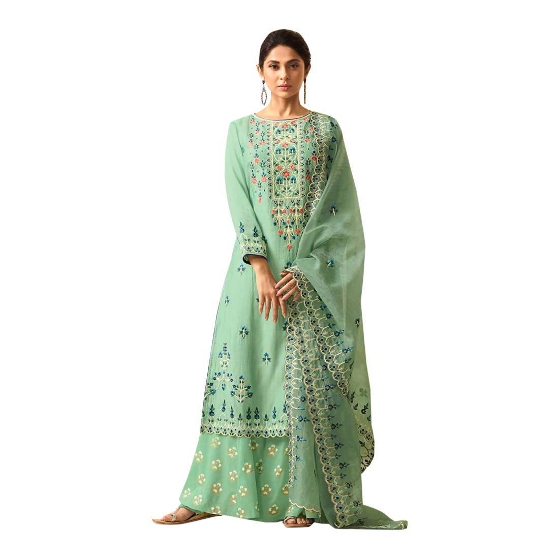 Indian Ethnic Party Wear Long Salwar Kameez Suit Ready To Wear Collection 7353 S1 1