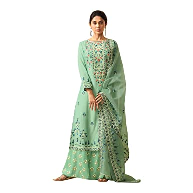 Amazon.com: Traje largo de fiesta étnica india Salwar Kameez ...