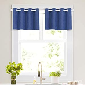Line Look Room Darkening Curtains for Living, Grommet Top Black Out Country Decor Thermal Insulated Nursery Curtain Panels for Bedroom, Patio, Parlor (52
