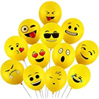 Emoji Party Balloons Latex Balloons 50 Pcs 12 Inch Emoji Funny Balloons Party