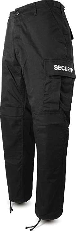 normani Herren Security Hose Feldhose mit Schirftzug beidseitig [S-3XL]