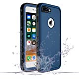 SPORTLINK iPhone 7Plus/8Plus 対応 防水ケース アイフォン 7Plus/8Plus 対応 IP68規格 完全防水 耐衝撃 防塵 防雪 保護ケース 指紋認証対応 軽量 無線充電サポート 携帯カバー (ブルー)