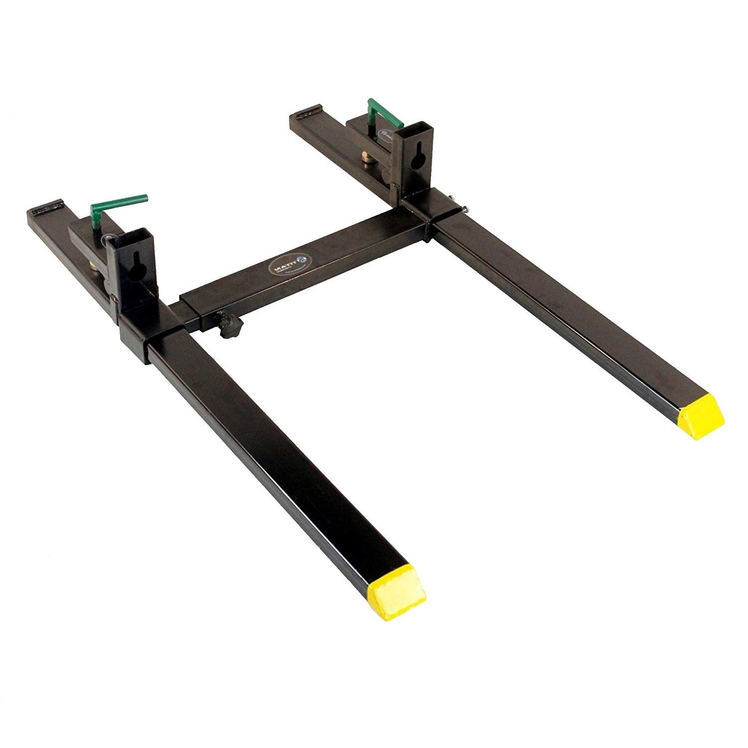 Titan Clamp on Heavy Duty Pallet Forks and adjustable Stabilizer Bar for loaders by Titan Attachments