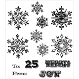 Art Gone Wild Mini Weathered Winter Cling Mounted Stamp, Grey by Stampers Anonymous