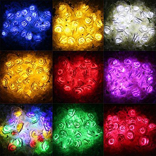 JIA 2 meter 20 LEDs Neuheit Rose Blume Fee String Mode Urlaub ...