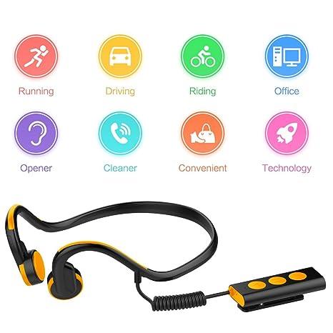 HOIHO reducción de ruido de auriculares de conducción ósea Mic manos libres para teléfonos inteligentes tablet