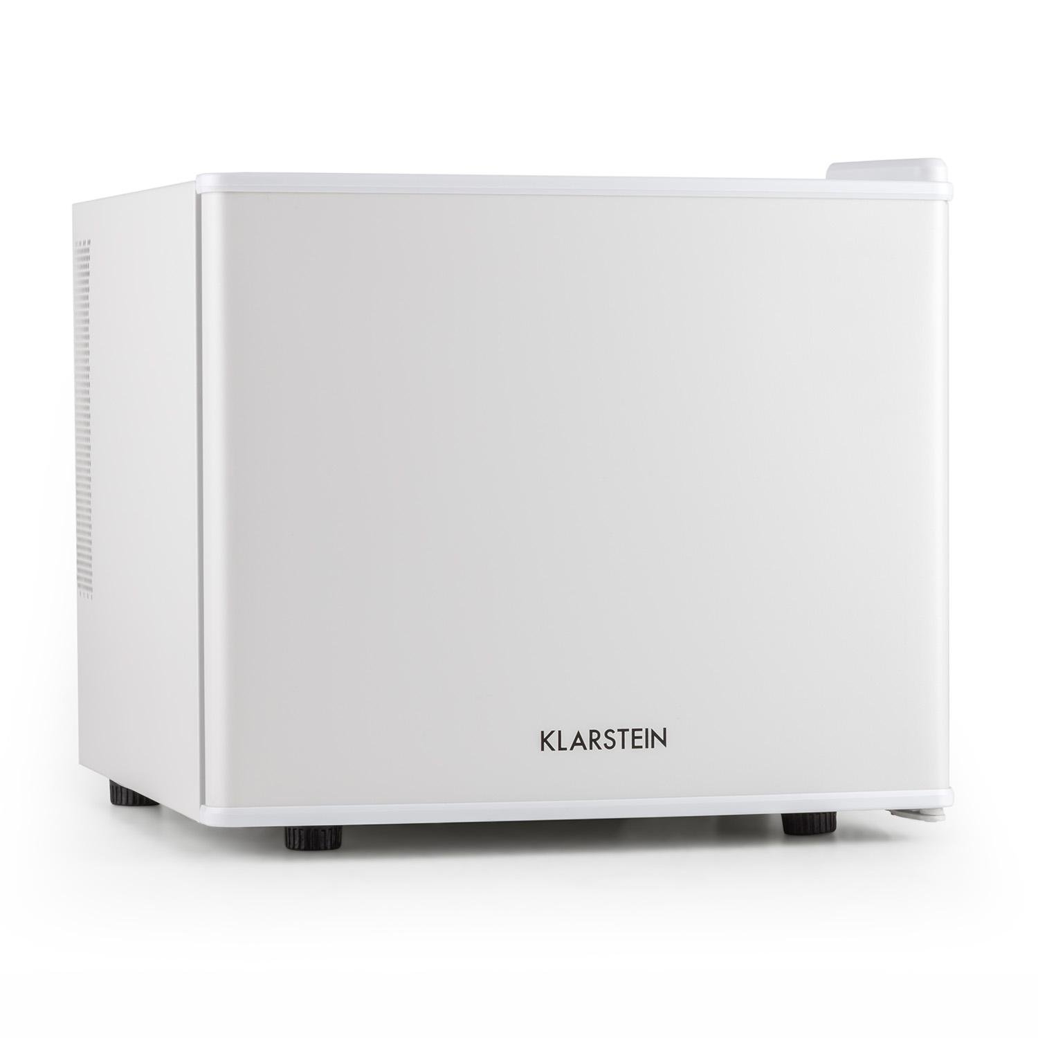 Klarstein Secret Hiding Place Mini Fridge • Refrigerator • Cooler • 17 Litres • 50W • Class A+ Energy Efficiency • Space-Saving • Adjustable Cooling Temperature Between 4.5 and 15 ° C • White [Energy Class A+]