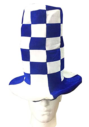 Womens Wacky Tall Hats Red White and Blue White Mens Headwear Wedding Party  Hats Blue White  Amazon.co.uk  Clothing 6ec86ac4741a