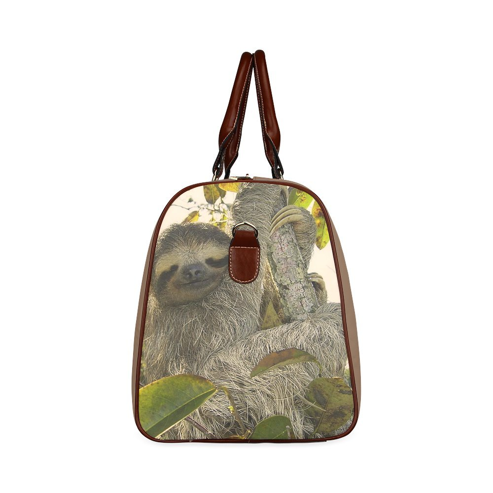 Sketchy Sloth Custom Waterproof Travel Tote Bag Duffel Bag Crossbody Luggage handbag Awesome Animal