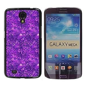 ROKK CASES / Samsung Galaxy Mega 6.3 I9200 SGH-i527 / PURPLE PATTERN / Delgado Negro Plástico caso cubierta Shell Armor Funda Case Cover