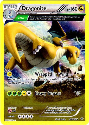 Pokemon - Dragonite (52/108) - XY Roaring Skies - Holo