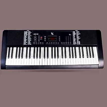 KYOKIM Teclado Electrónico para Niños Adultos Teclado Electrónico De 61 Teclas Instrumentos Musicales Estándar Inteligentes con