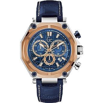 Guess Collection GC-3 Sport Homme 44.5MM Bracelet Cuir Quartz Montre  X10002G7S 52ae0e42527