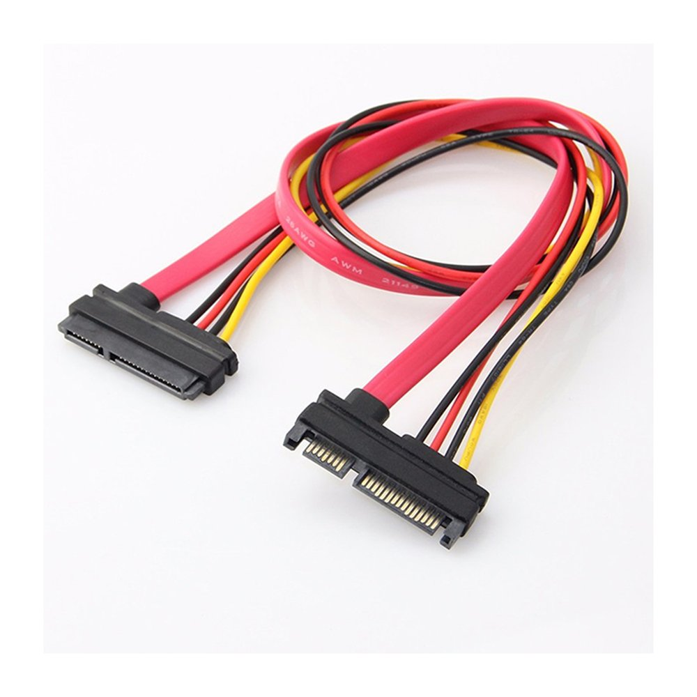 SATA Cables 15 Pin SATA Extension Cable 7P Data Transfer 15P Power ...